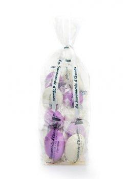 Ballotin de 10 savons galets blancs et roses