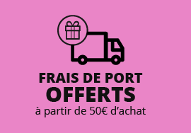Frais de port offerts à partir de 50 € d'achat