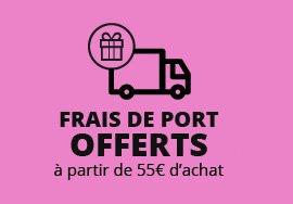 Frais de port offerts à partir de 55 € d'achat